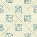 Seamless pattern with glyphs of the maya periods calendar names for your design Royalty Free Stock Images