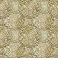 Seamless pattern with golden circle. Vector illustration