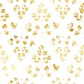 Seamless pattern with golden leaves Royalty Free Stock Photo