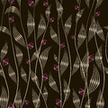 Seamless pattern graphic ornament. Floral stylish background. Ve Royalty Free Stock Photo