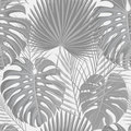 Seamless pattern with grayscale tropical exotic palm leaves Royalty Free Stock Photo