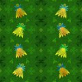 Seamless pattern for Patrick`s day with fairies