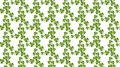 Seamless pattern with green clover. St. Patrick`s day.