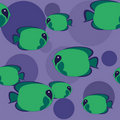 Seamless pattern - green fish Royalty Free Stock Photos