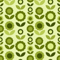 Seamless pattern with green flowers Royalty Free Stock Photo