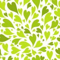 Seamless pattern with green hearts for your design this is file of eps format Royalty Free Stock Photos