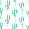 Seamless pattern with green  leaf. Vector illustration. Watercolor painted background Royalty Free Stock Photo