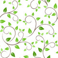 Seamless pattern with green leaves branches Royalty Free Stock Image