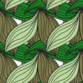 Seamless pattern of green leaves cane Royalty Free Stock Photo