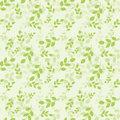 Seamless Pattern With Green Le...