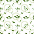 Seamless pattern with green sprigs Royalty Free Stock Photo