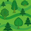Seamless pattern with green trees Royalty Free Stock Photography