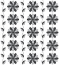 Seamless pattern the grey flower pattern for background vector Stock Photos