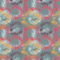 Seamless pattern with halftone grungy design elements Royalty Free Stock Photo
