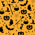 Seamless pattern with Halloween elements Stock Images