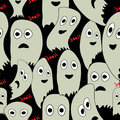 Seamless pattern for Halloween with ghosts