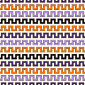 Seamless pattern in Halloween traditional colors. Zigzag bright lines abstract background. Vector illustration Royalty Free Stock Photo