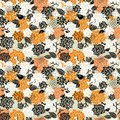 Seamless pattern for halloween vector doodle illustration Stock Photography