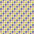 Seamless Pattern with Hand Drawing Flowers. Summer Texture.