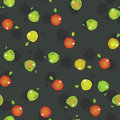 Seamless pattern of hand drawn apples vector illustration Stock Photos