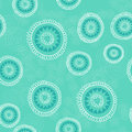 Seamless pattern with hand drawn circles, flowers and hearts. Ornate floral endless Hipster background.