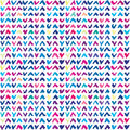 Seamless pattern with hand drawn colorful checkmarks