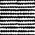 Seamless pattern, hand drawn horizontal wavy lines