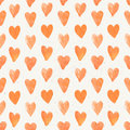 Seamless pattern of hand drawn red hearts on white grunge background Stock Image