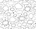 Seamless pattern. Hand drawn  speech bubbles Royalty Free Stock Photo