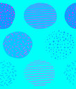 Seamless pattern. Hand drawn VECTOR circles, blue colors.