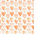 Seamless pattern of hand painted red hearts on a grungy background Stock Image