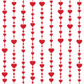 Seamless pattern with hanging heart garlands