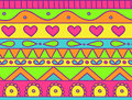Seamless pattern happy childish doodle Stock Photography