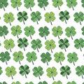 Seamless pattern Happy St. Patrick`s Day