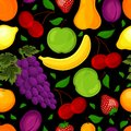 Seamless pattern for a healthy lifestyle from fruit Royalty Free Stock Images