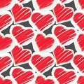 Seamless pattern - hearts Royalty Free Stock Image