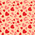 Seamless pattern with hearts and the broken hearts Stock Image
