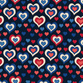 Seamless pattern with hearts on a dark background for textiles interior design for book design website Royalty Free Stock Image
