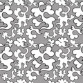 Seamless pattern with hearts doodle Royalty Free Stock Photos