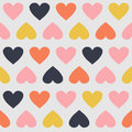 Seamless pattern with hearts this is file of eps format Royalty Free Stock Photos