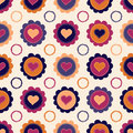 Seamless pattern with hearts and flowers for textiles interior design for book design website background Stock Images