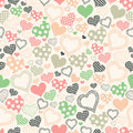 Seamless pattern with hearts on a light background for textiles interior design for book design website Stock Images