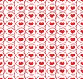 Seamless pattern with hearts in loops abstract Royalty Free Stock Images
