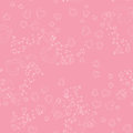 Seamless pattern with hearts on a pink background Royalty Free Stock Photography