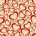 Seamless pattern hearts for valentine s day this is file of eps format Stock Photos