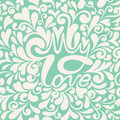 Seamless pattern with hearts for valentines day de design vector illustration Royalty Free Stock Photography