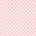 Seamless pattern with hearts valentines motives Stock Photos