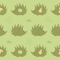 Seamless pattern with hedgehog Stock Photography