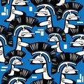Seamless pattern helm knight Royalty Free Stock Image