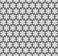Seamless pattern with hexagonal lattice. Royalty Free Stock Image